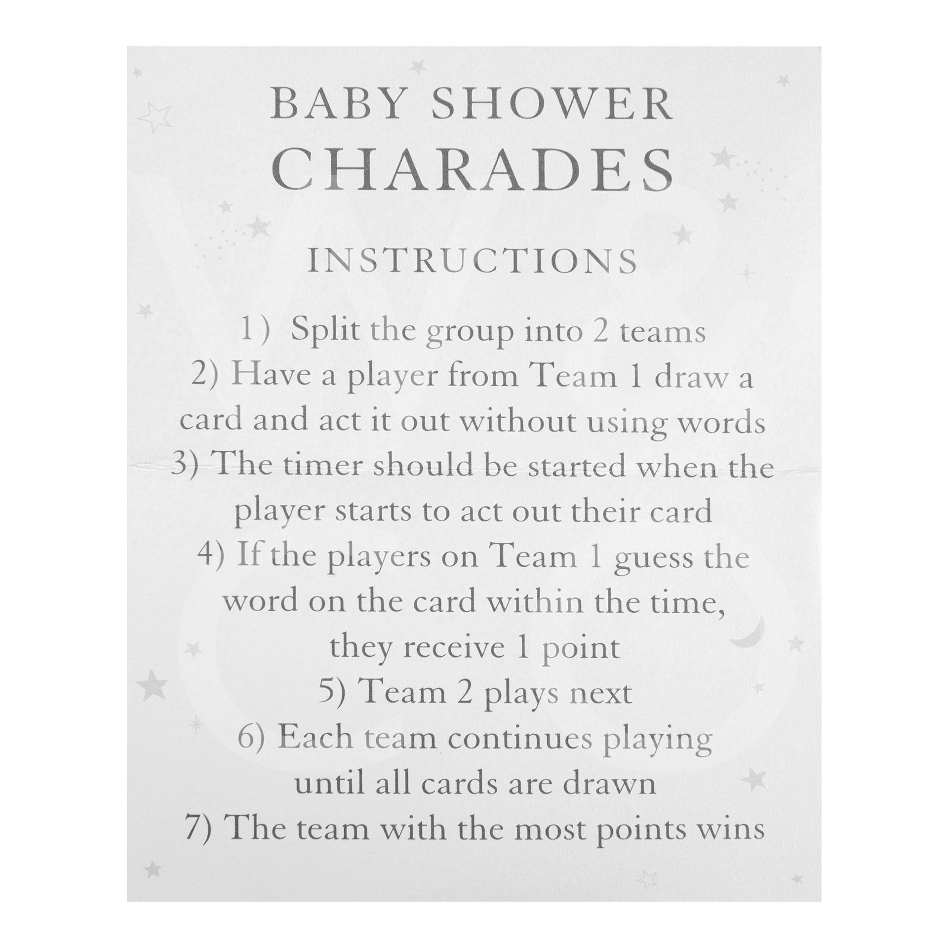 Bambino Baby Shower Game Charades